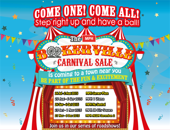 Carnival Sale  >> 25 Jul 6 Dec 2015 Mph Book Store Bookerville Carnival Sale 2015