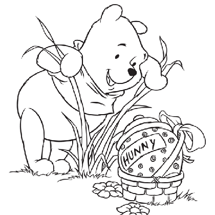 Coloriage Winnie Paques.Pin De Lmi Kids Disney Em Winnie The Pooh Winnie L Ourson