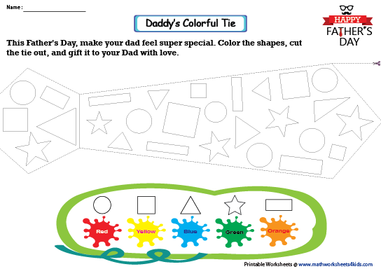 Father S Day Worksheets Happy Daddy Fathers Day Make A Tie