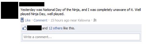 dec 14th ninja day