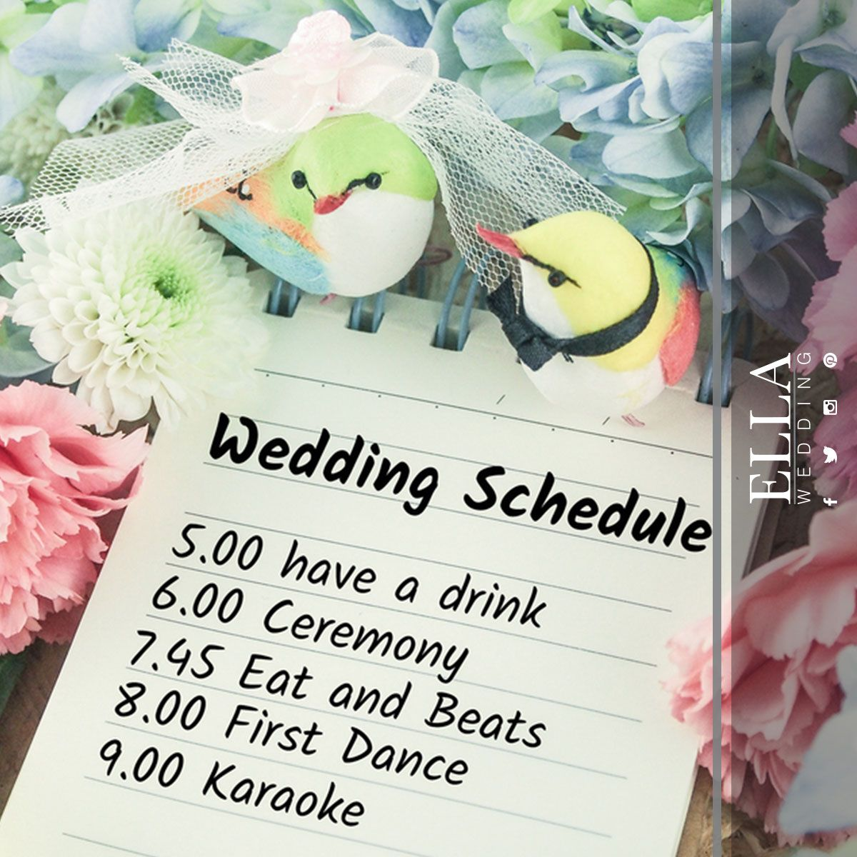 its important to have a wedding schedule in order to have an ...
