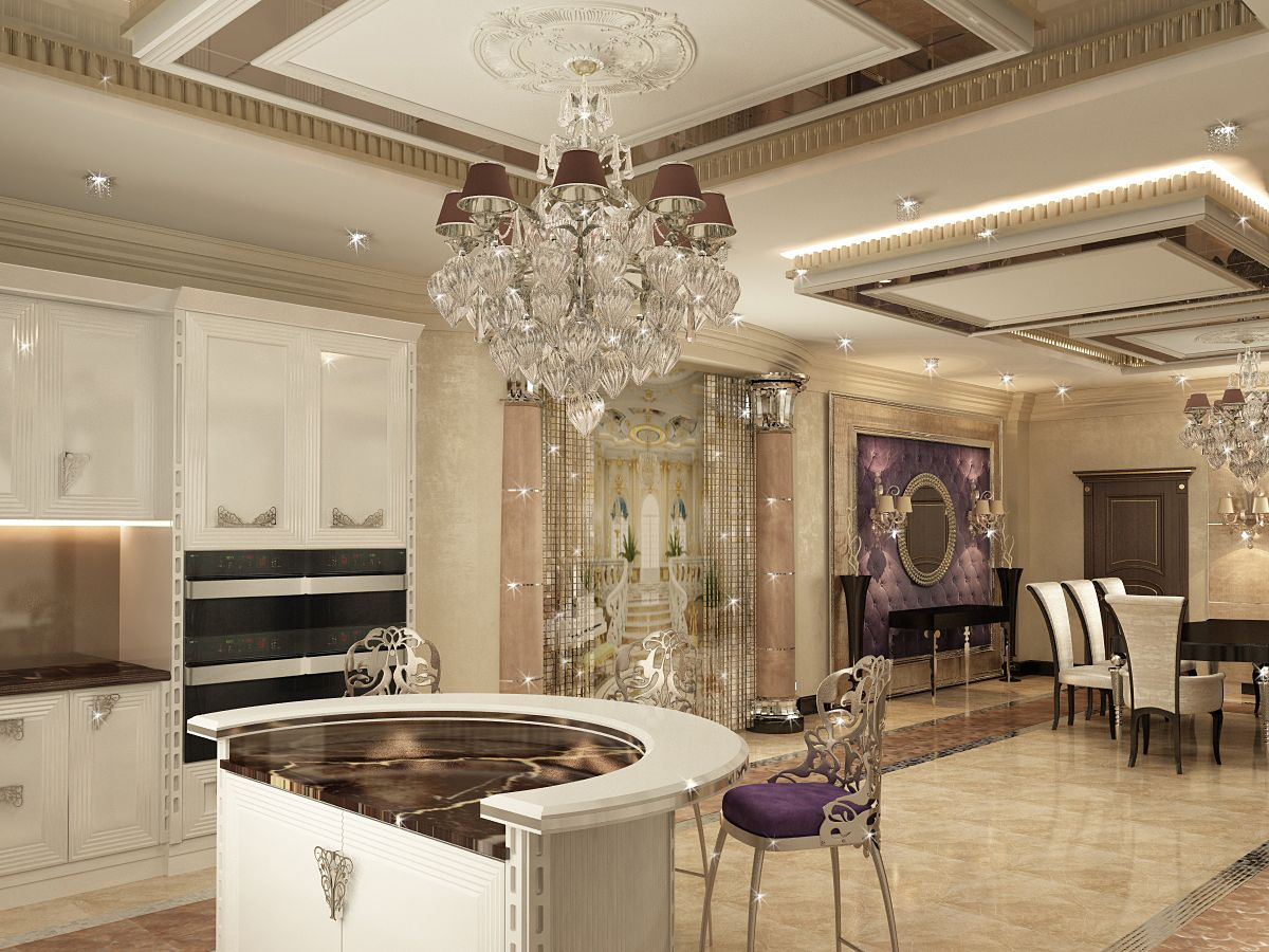 Mansion interior has the style of art deco filled with luxurious and ornate design elements - Design interior home with ease ...