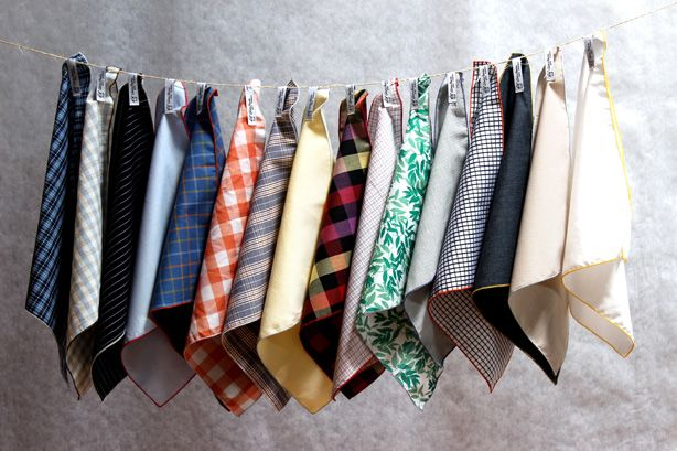 Upcycled Pocket Squares For a Sprezzy Earth Day