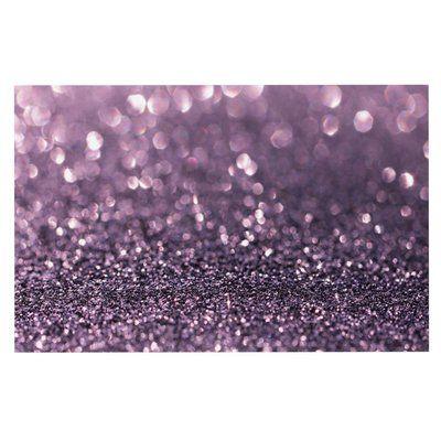 East Urban Home Debbra Obertanec 'Lavender Sparkle' Glitter Doormat
