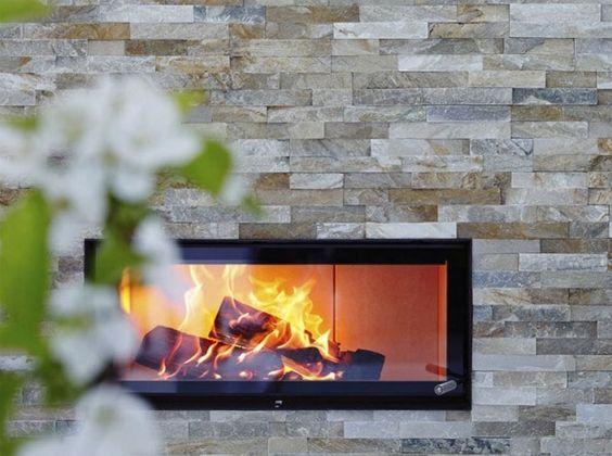 Steinwand Wohnzimmer – Design, Deko & Interieur für Haus & Wohnung