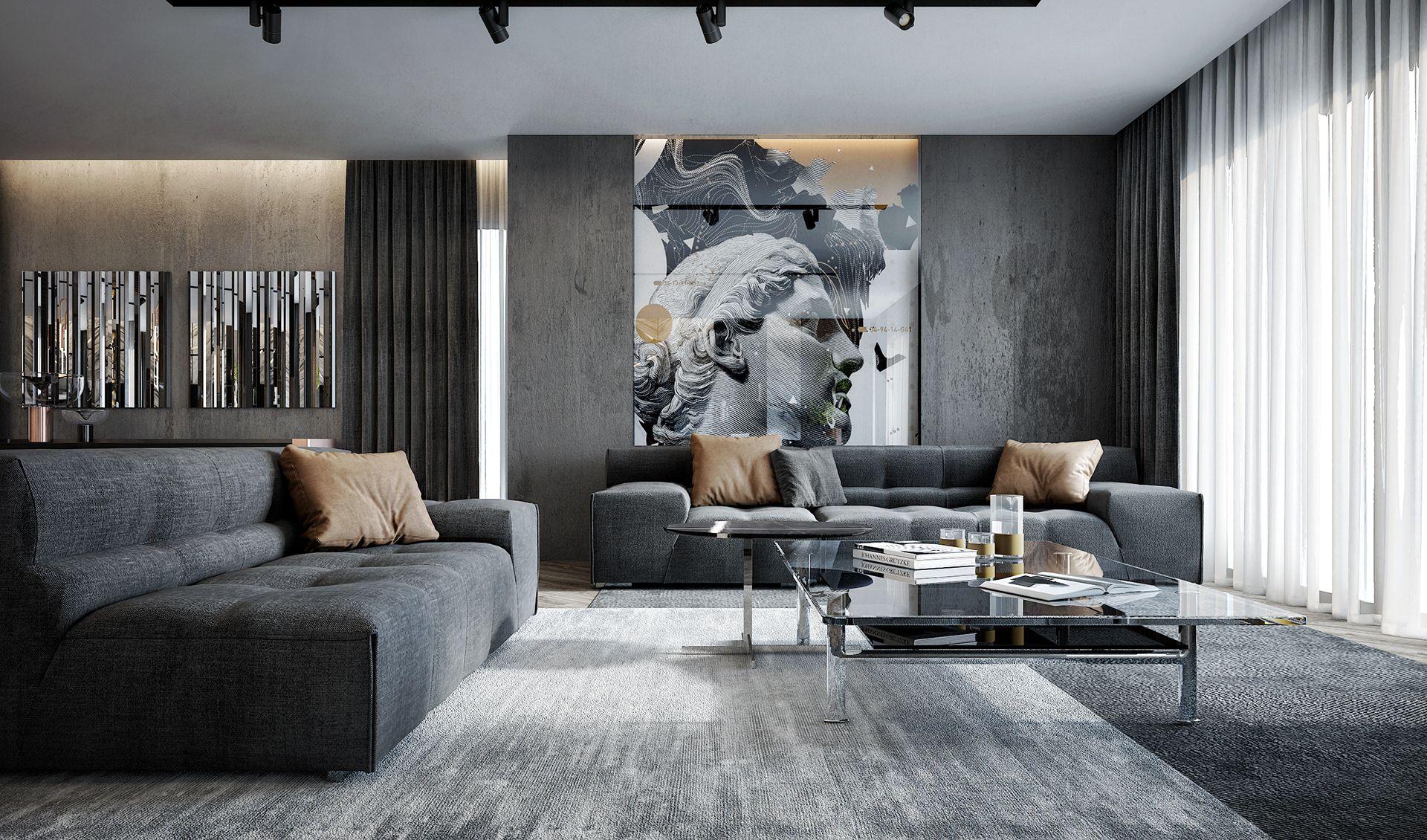 Luxury Apartment On Behance Luxury Apartments Interior Luxury Living Room Design Living Room Design Modern