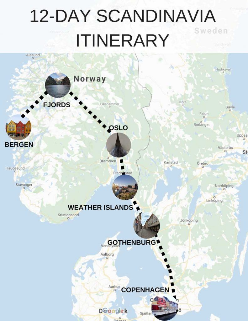 The Ultimate Scandinavia Itinerary 12 Full Days 6 Fantastic Stops Norway Travel Norway Fjords Scandinavia Travel