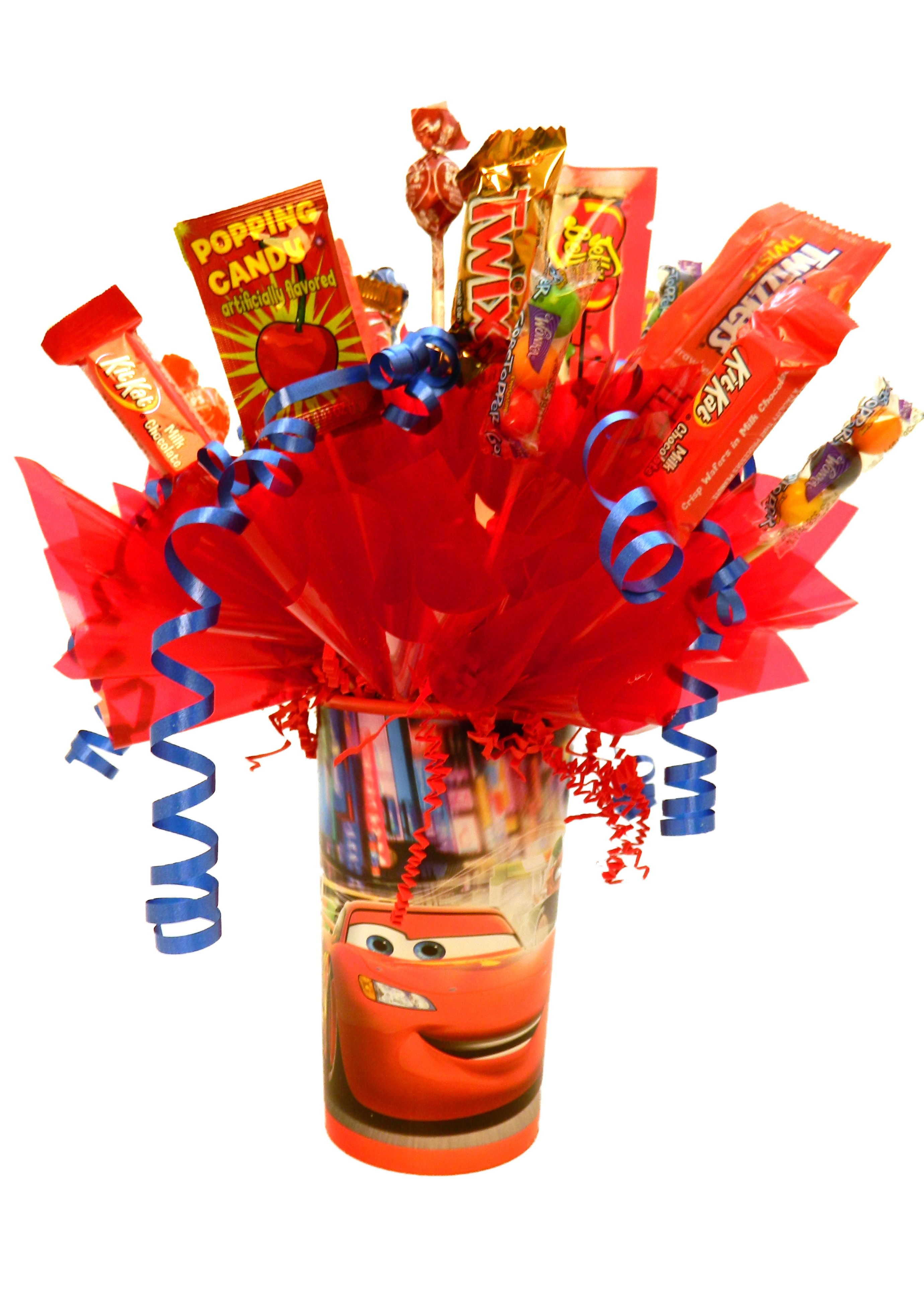 Cars Cup Candy Bouquet