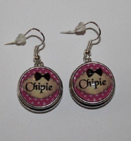 """boucles d'oreilles boutons-pression """"chipie""""18 mm"""