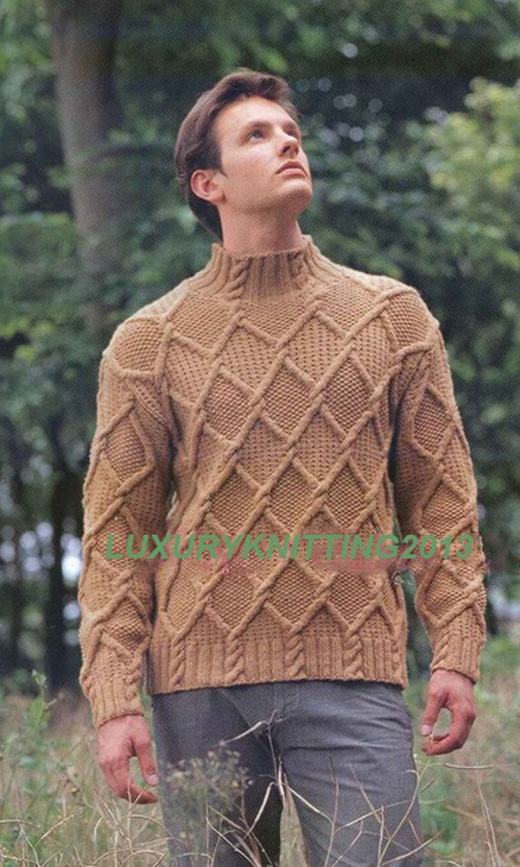 MADE TO ORDER turtleneck Sweater aran men hand knitted sweater ...