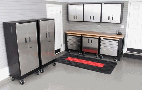 Set Of Metal Garage Storage Cabinets Home Interiors Metal Garage Storage Cabinets Garage Cabinets Garage Storage Cabinets