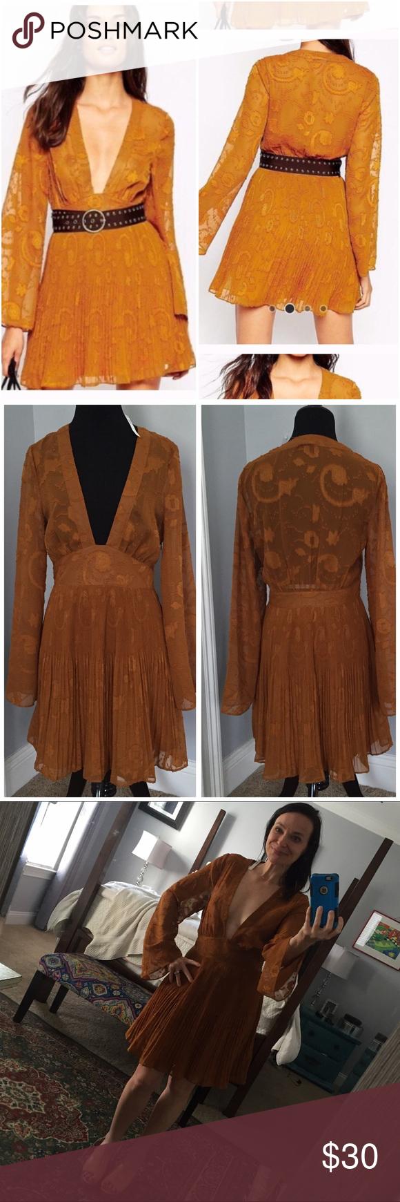 Selling this 🌺HOST PICK🌺 ASOS EMBROIDERED DEEP V PLUNGE DRESS on Poshmark! My username is: democracy21. #shopmycloset #poshmark #fashion #shopping #style #forsale #ASOS #Dresses & Skirts