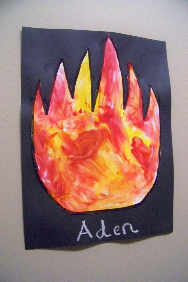 Fire Safety Art We Did This This Year But Added A Fire