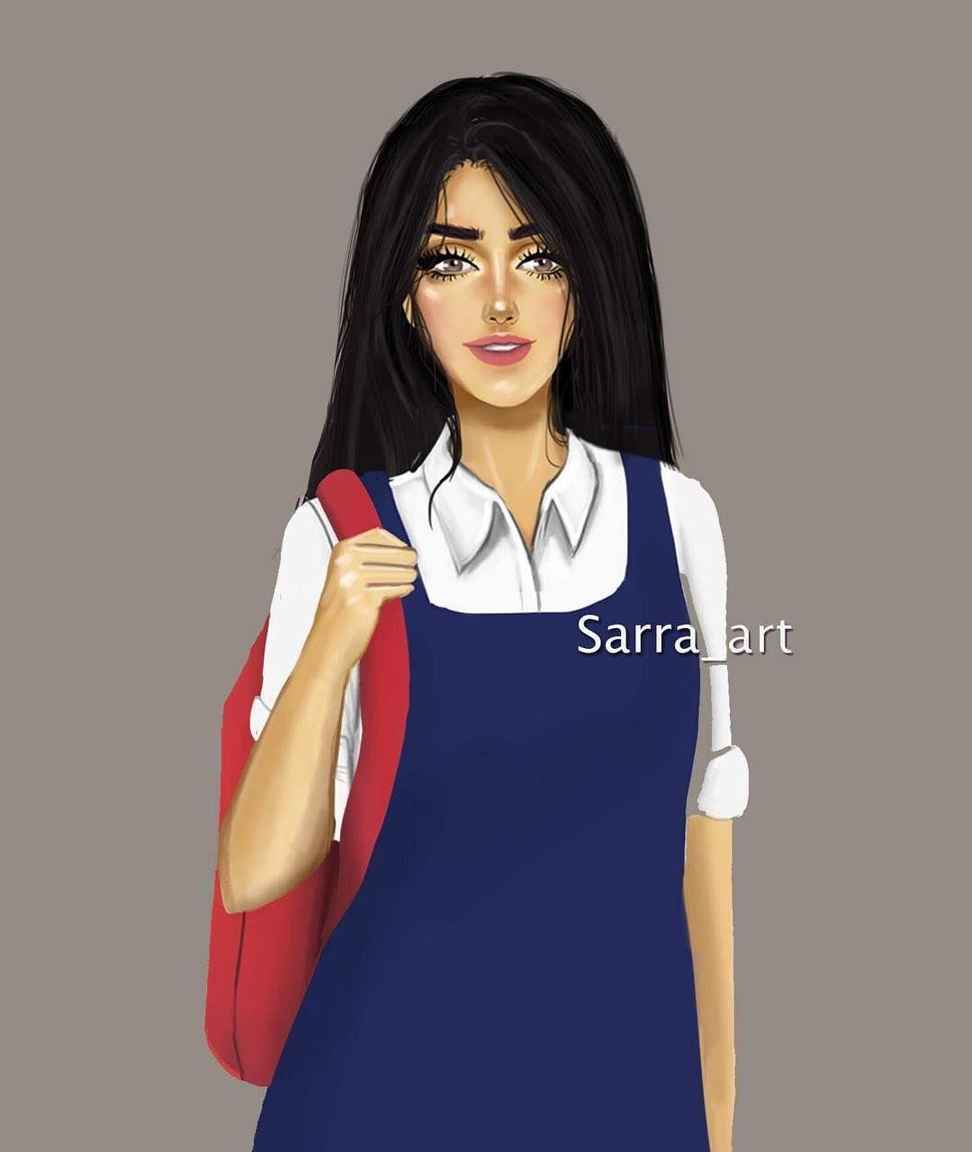 302 Likes 32 Comments Sara Ahmed Sarra Art On Instagram الحمدلله خلصت المدرسة والجامعه يلا اللي عندها Cute Girl Drawing Lovely Girl Image Sarra Art