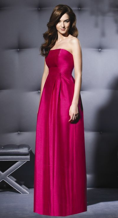Moh Silk Shantung Long Strapless Dessy Collection Bridesmaid Dress 2798 Image 238