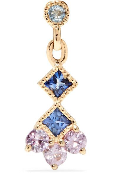 Journey 14-karat Gold, Emerald And Sapphire Earring - one size Jennie Kwon Designs