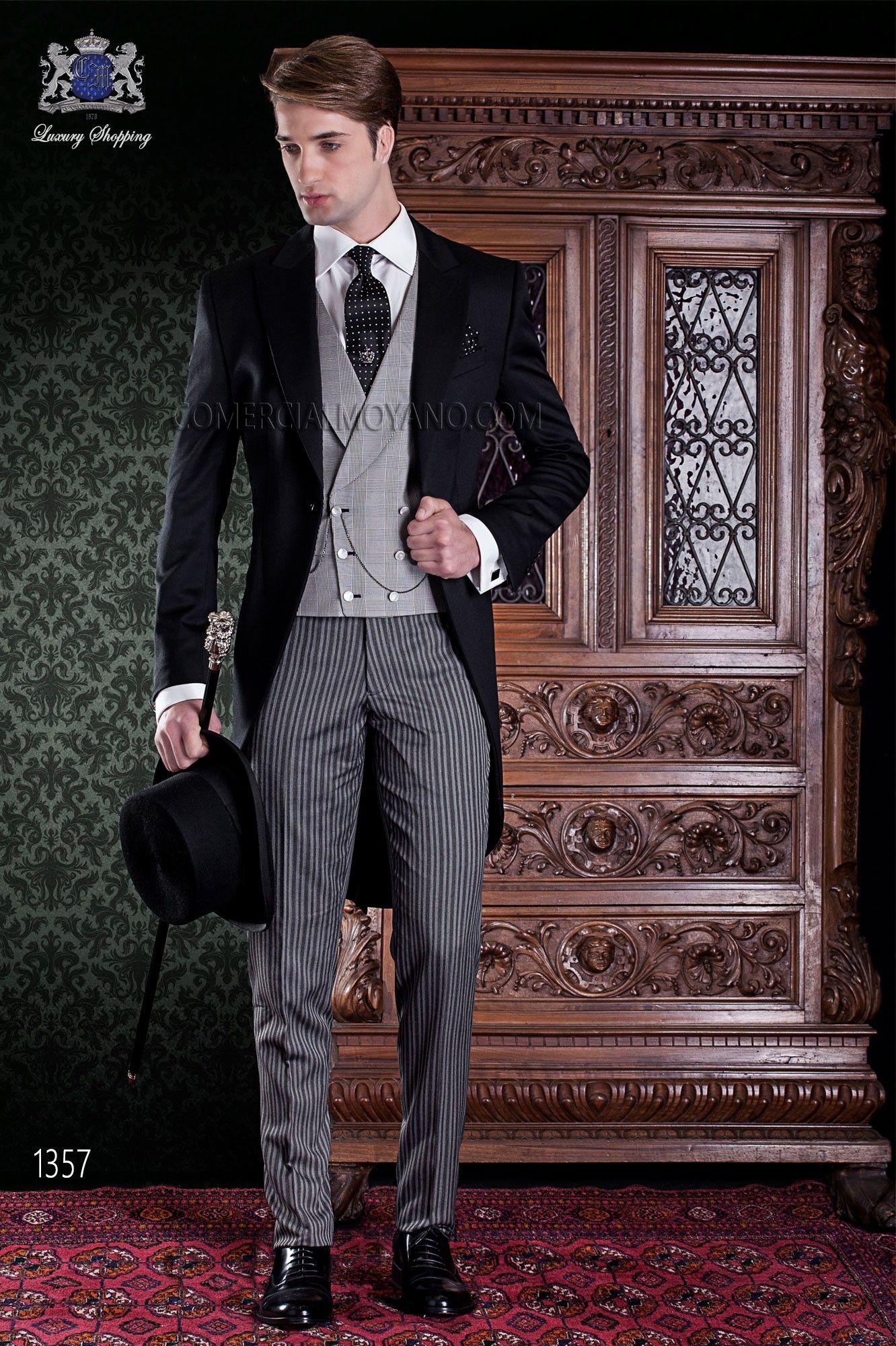 italienisch cut anzug schwarz aus reiner wolle mit schwarz grau gestreift cut hosen pinterest. Black Bedroom Furniture Sets. Home Design Ideas