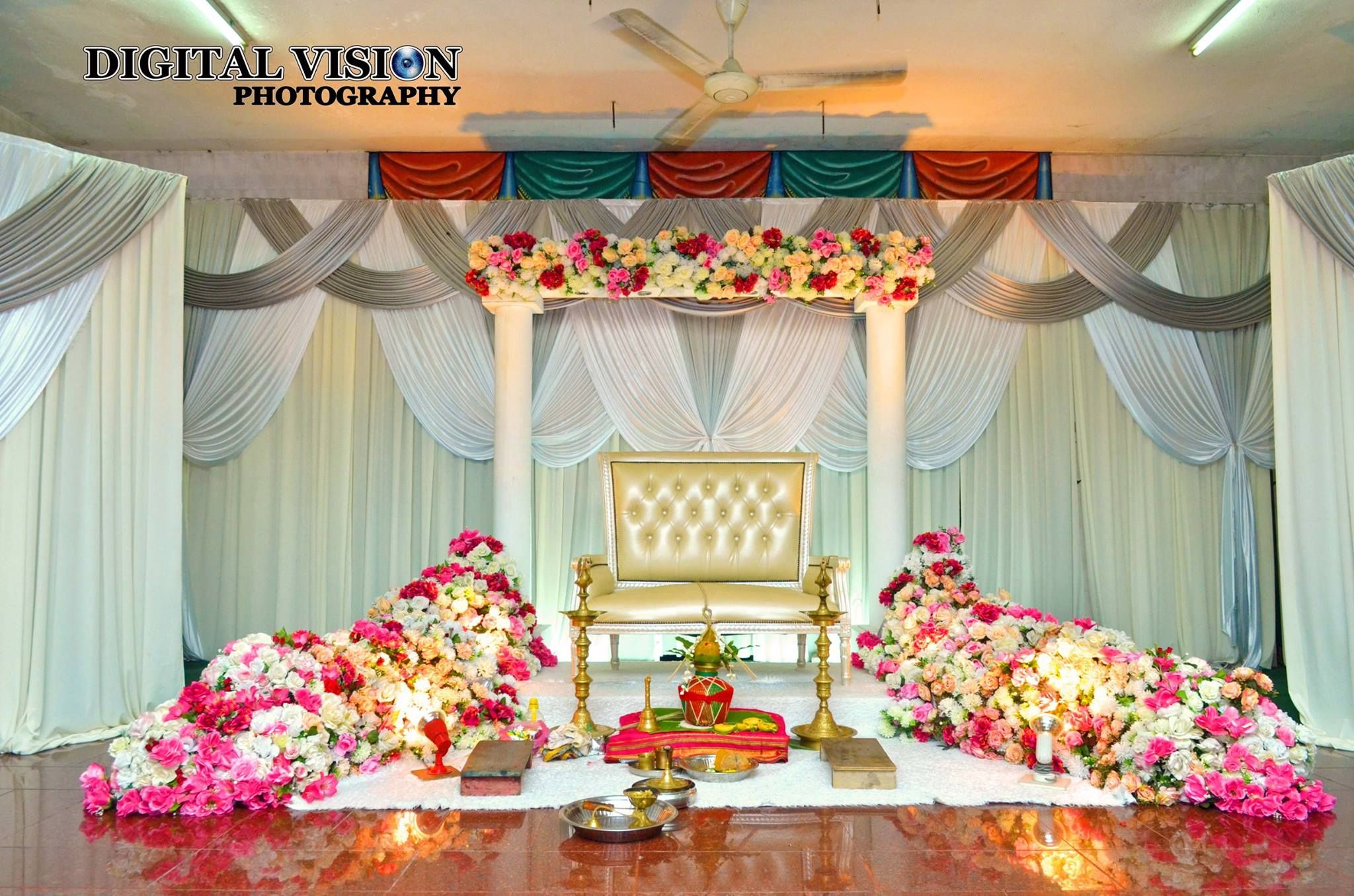 Wedding Stage decoration | Marriage hall decoration ...