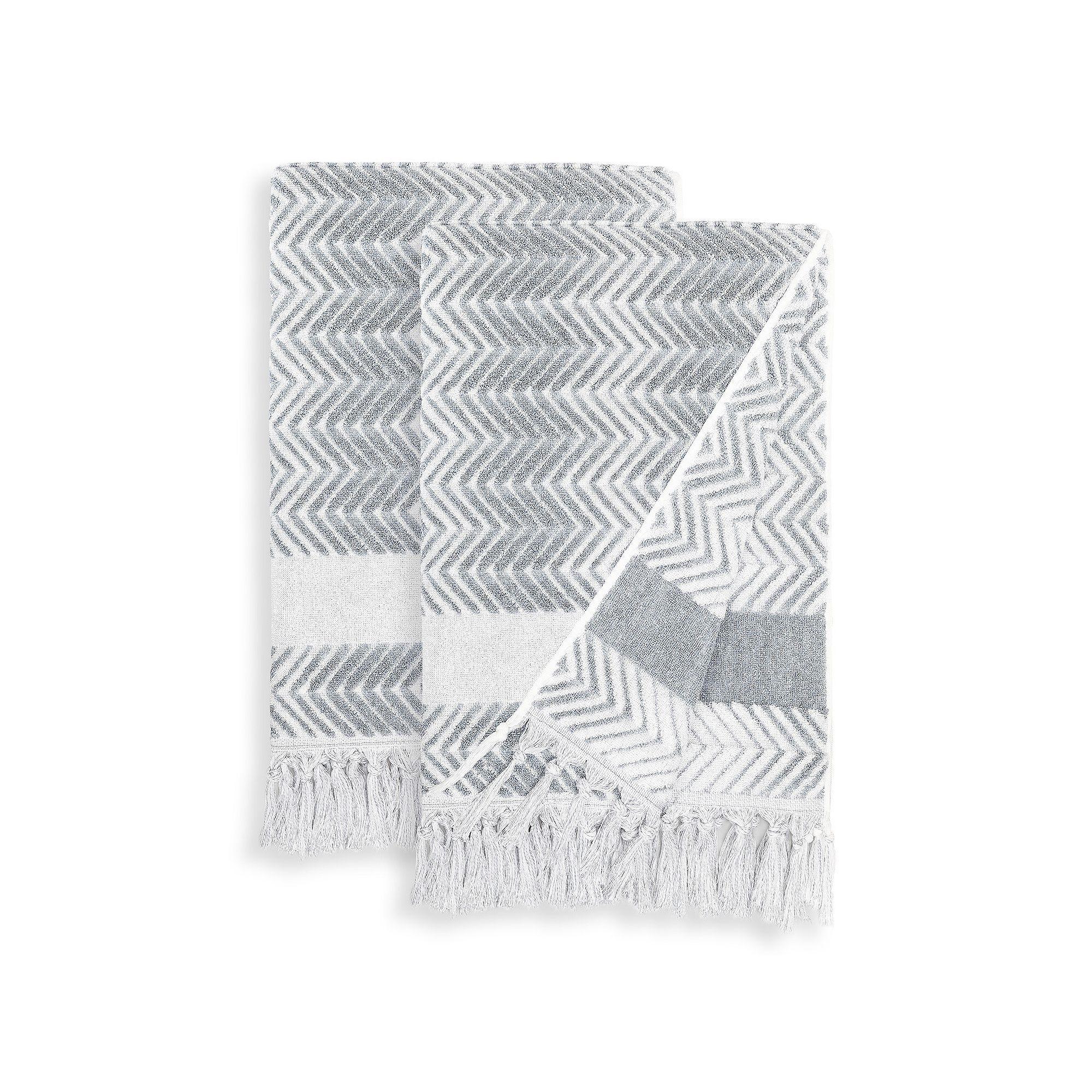 eba0de0013f4 Linum Home Textiles 2-pack Fringe Bath Towel Set | Products | Bath ...
