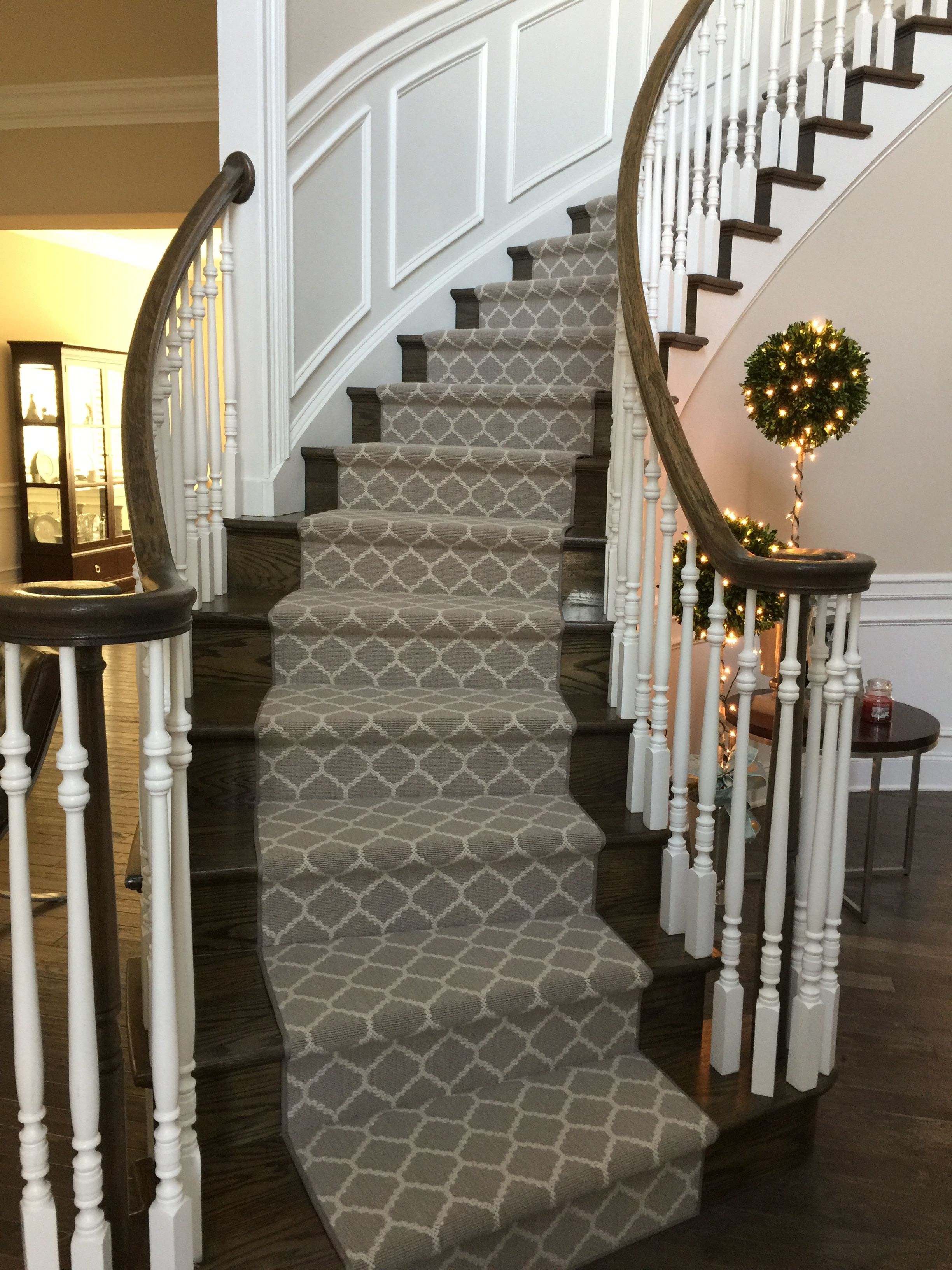 Carpet Runner On Curved Staircase Stairway Carpet Stair Runner Carpet Carpet Stairs