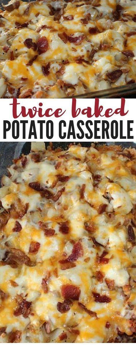 Twice Baked Potato Casserole #healthydinnerrecipesvideos