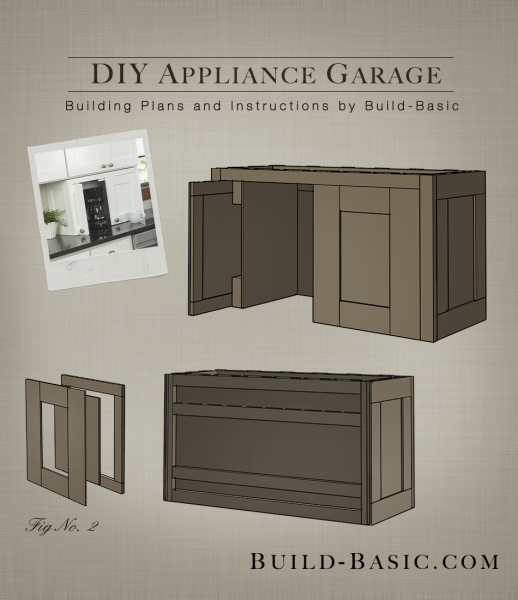 Build a diy appliance garage building plans by buildbasic diy around - Dishwasher small space plan ...