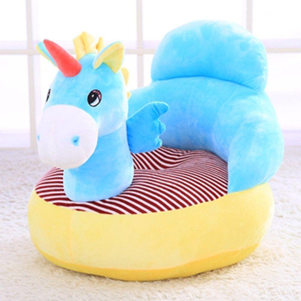 unicorn einhorn sessel blau sitzsack sitzkissen f r das kinderzimmer kleiner einhorn fans. Black Bedroom Furniture Sets. Home Design Ideas
