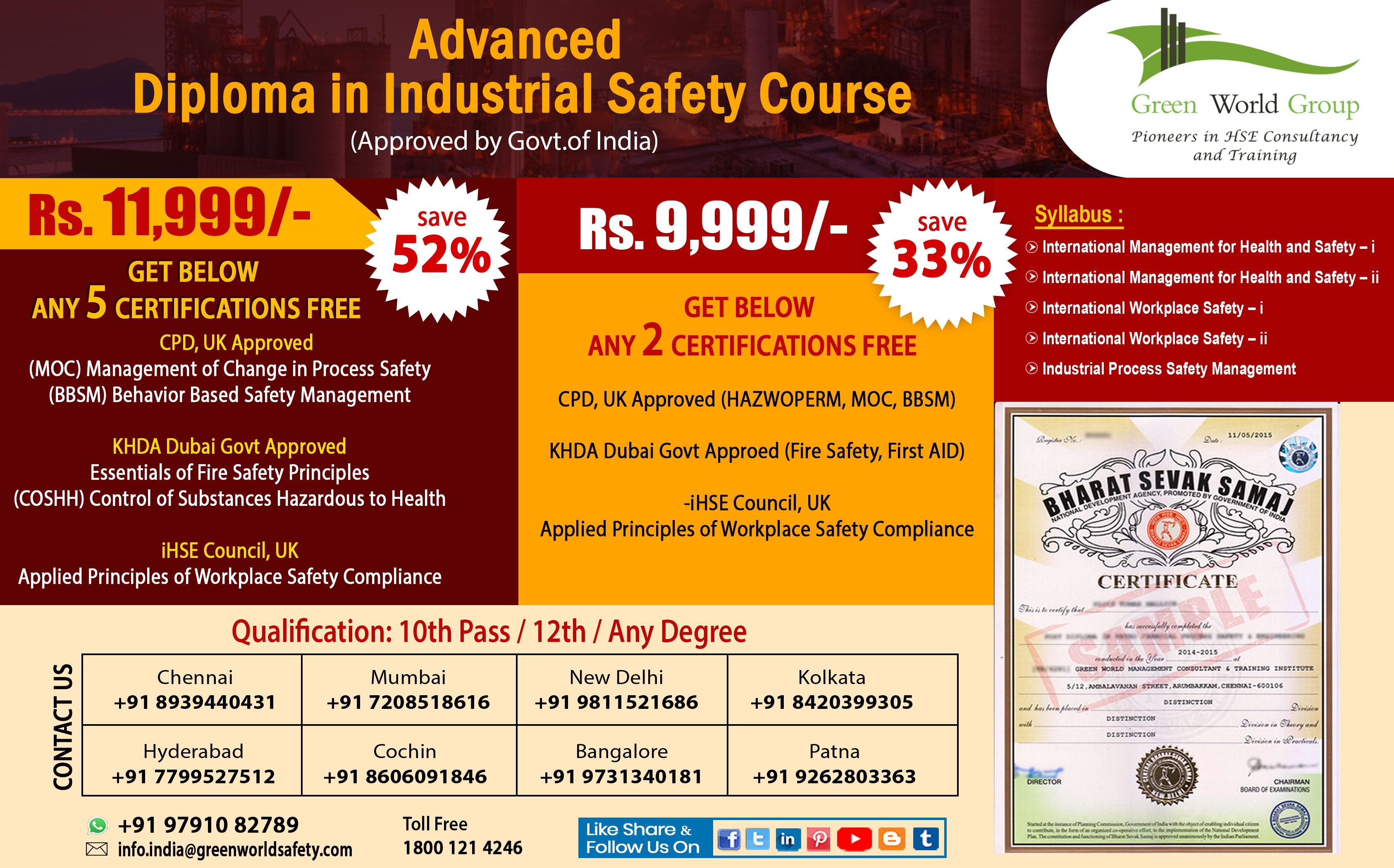 Advanced Diploma in Industrial Safety (With images