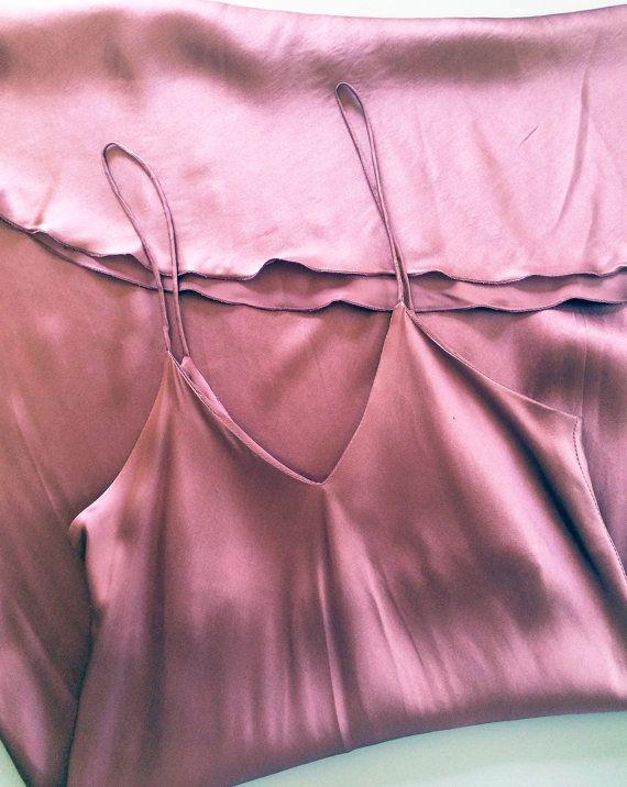 Vintage 1990s Plum Silk Slip Dress. 90s by havelovewilltravel