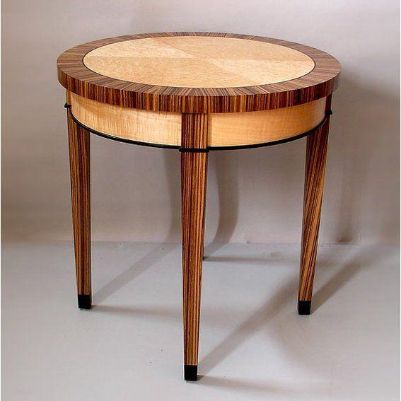 custom made zebrawood birdseye maple round table furniture in 2019 rh pinterest com