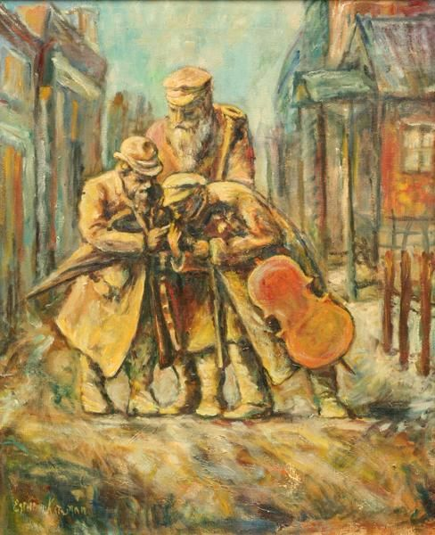 244: Esther Ketchum (Kateham?) - Musicians in the Stree : Lot 244