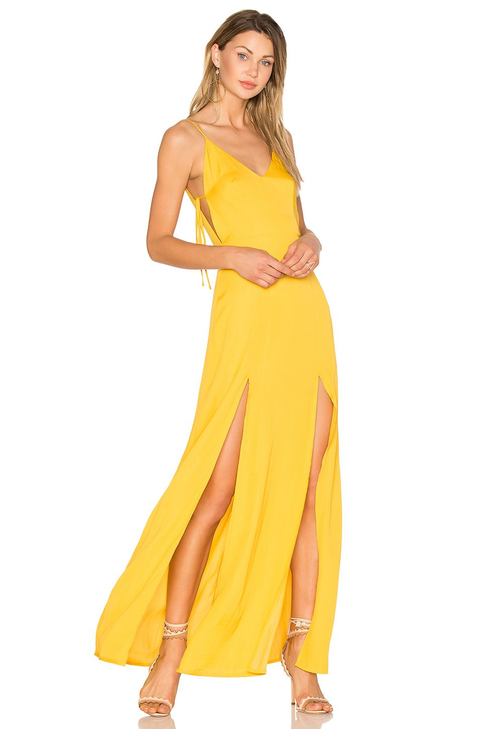 Capulet Gina Plunging Maxi Dress in Goldenrod | PROM | Pinterest
