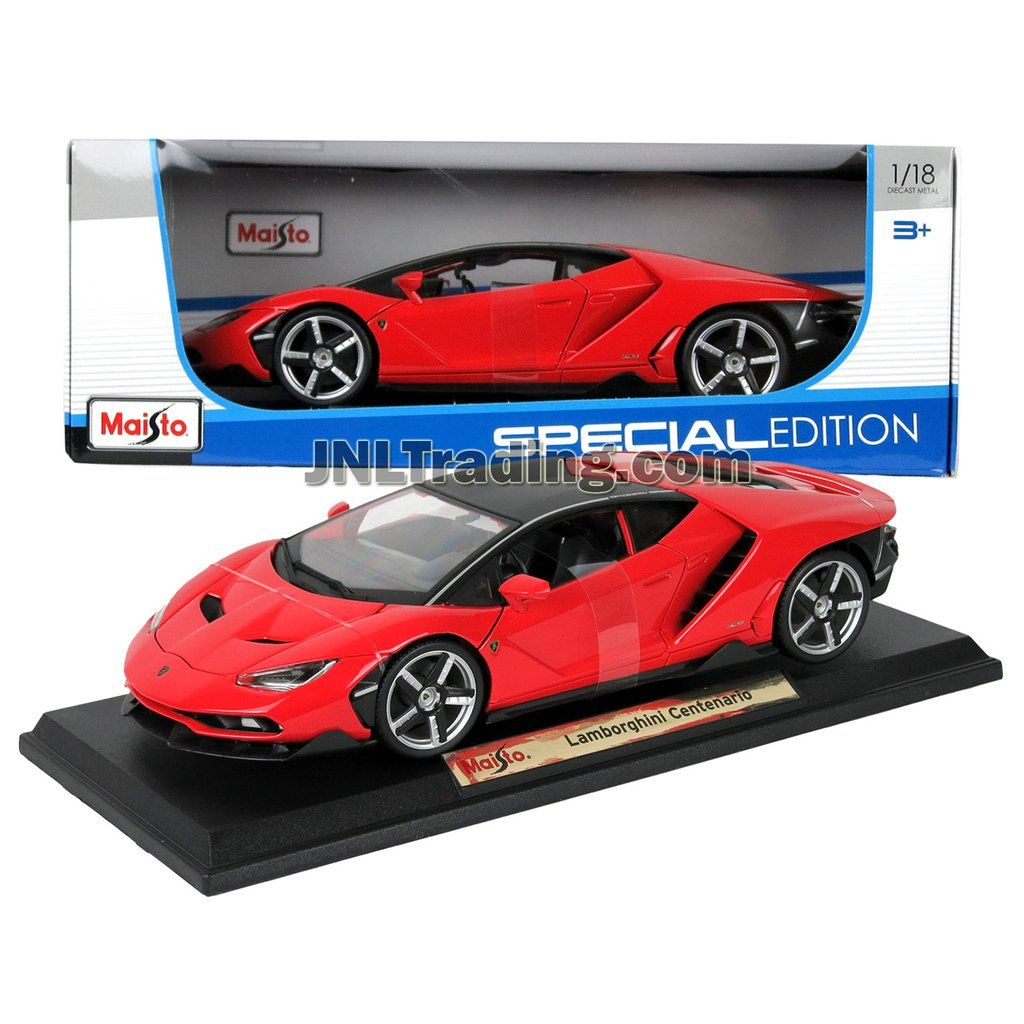 Maisto Special Edition Series 1 18 Scale Die Cast Car Red Sports Coupe Lamborghini Centenario With Base Dim 11 X 5 X 2 1 2 Sports Coupe Car Diecast