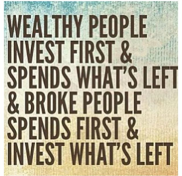 Wealthy people invest first | Quotes | Ahorro, Economia