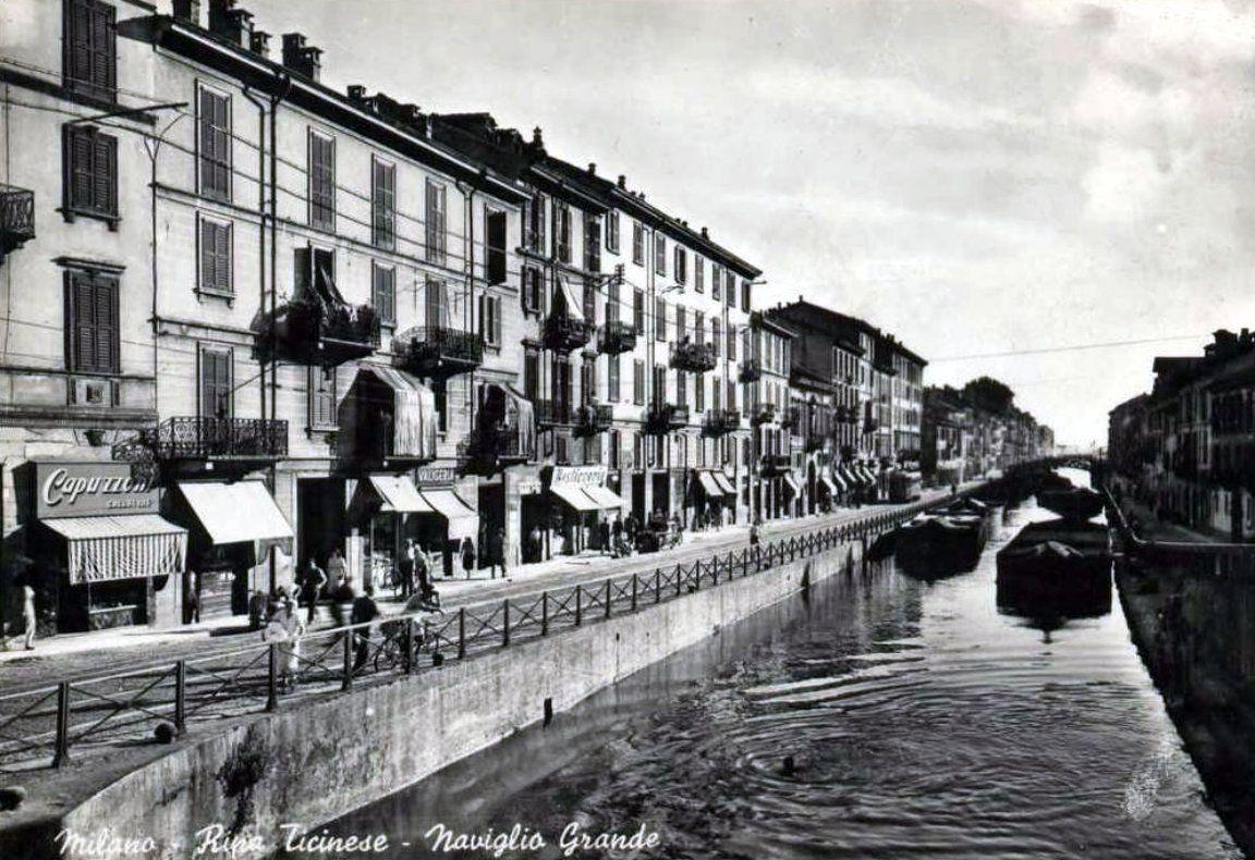 Risultati immagini per Milano - Naviglio Grande, anni '60.