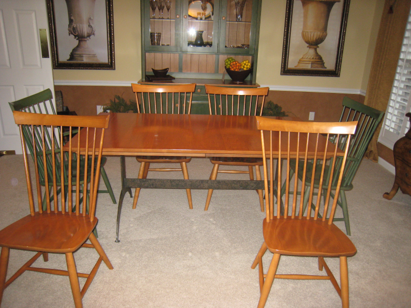 Ethan allen dining room set must sell ethan allen for Ethan allen dining room