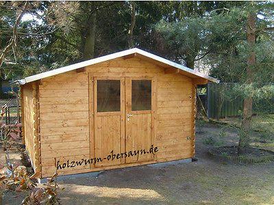 34 mm Gartenhaus Greta braun imprägniert ca. 4x3 m