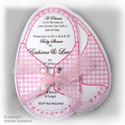 12 unique girl baby shower invitations booties pink