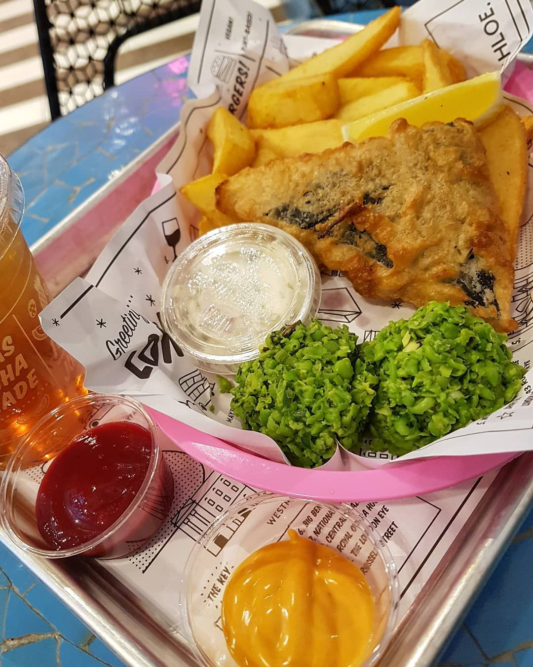 Vegan Fish And Chips Made From Tofu And Nori At By Chloe In Covent Garden London Vegan Fish And Chips Vegan Fish Fish And Chips
