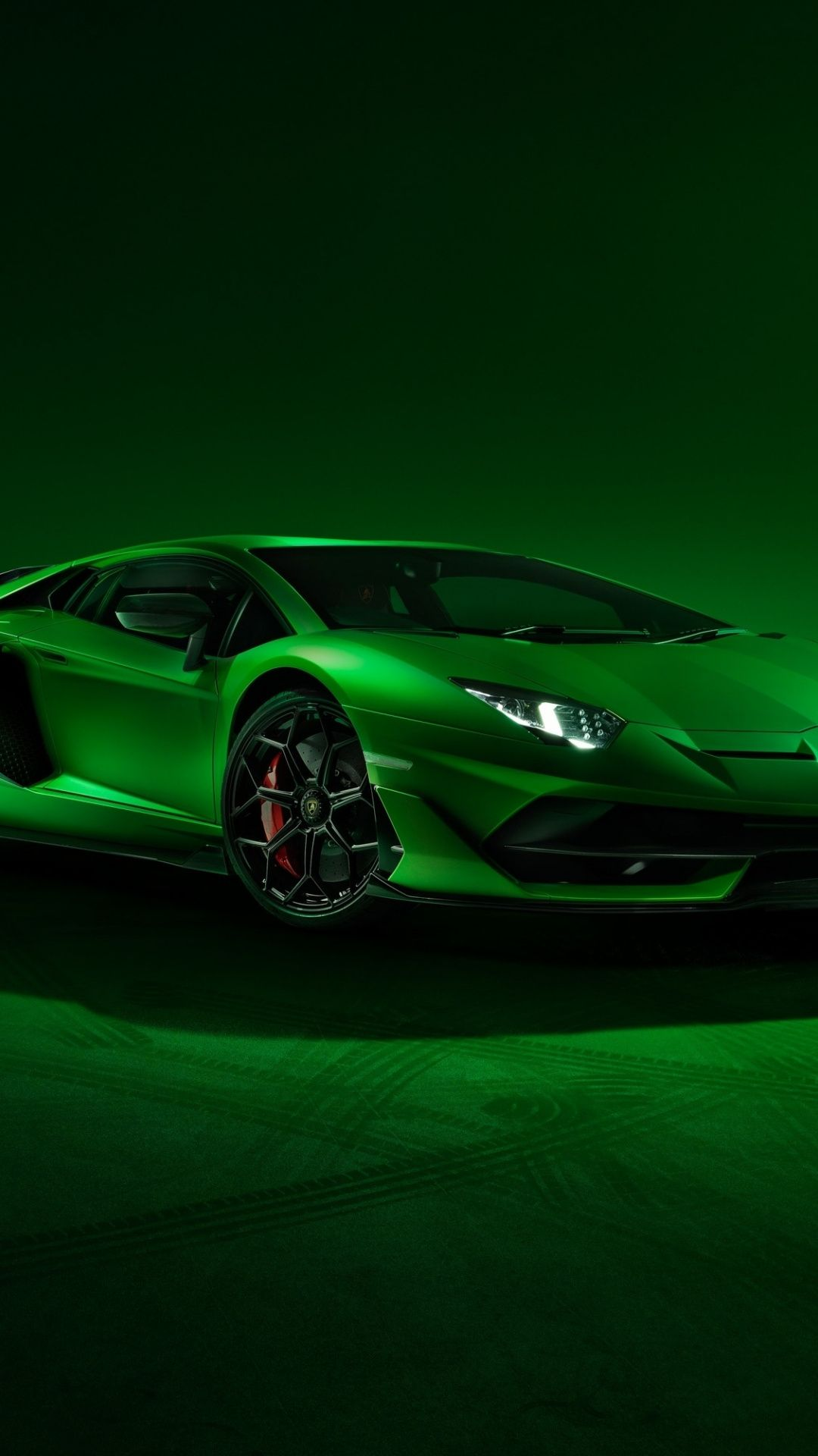 Lamborghini Aventador Svj Sports Car Green 1080x1920 Wallpaper Green Lamborghini Super Luxury Cars Sports Car