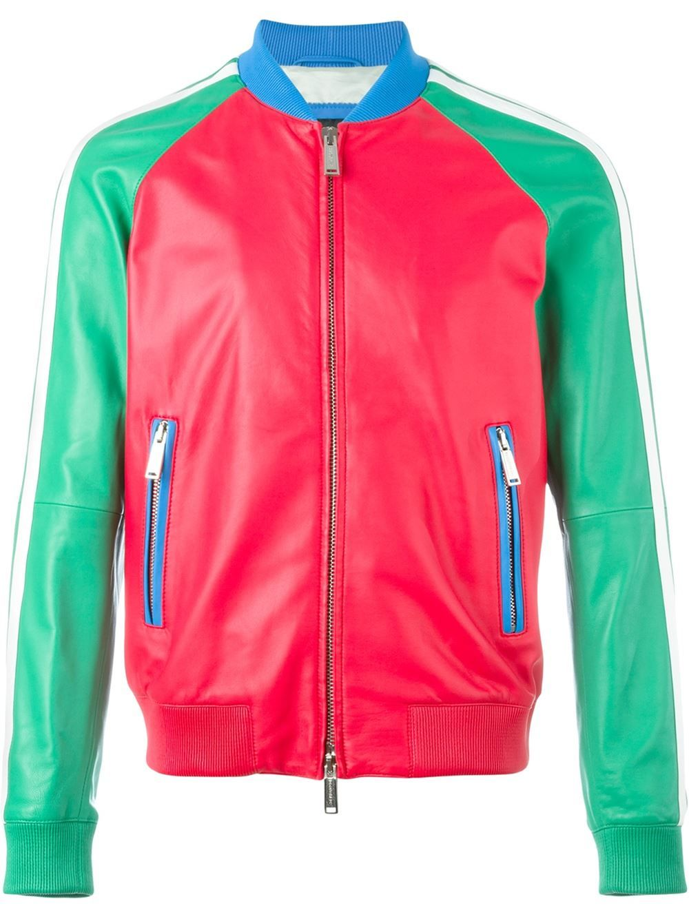 09689b85ddc Dsquared2 colour block bomber jacket