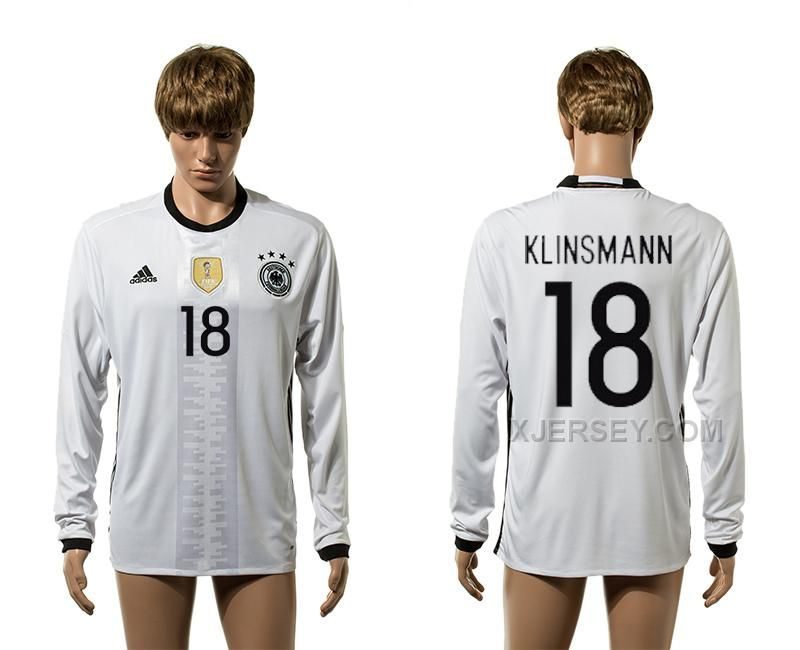 http://www.xjersey.com/germany-18-klinsmann-home-euro-2016-long-sleeve-thailand-jersey.html Only$35.00 GERMANY 18 KLINSMANN HOME EURO 2016 LONG SLEEVE THAILAND JERSEY Free Shipping!