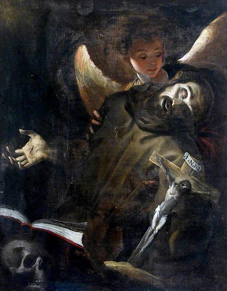 Saint Francis in Ecstasy -  Giovanni Battista Crespi - circa 1598.  Hatton Gallery