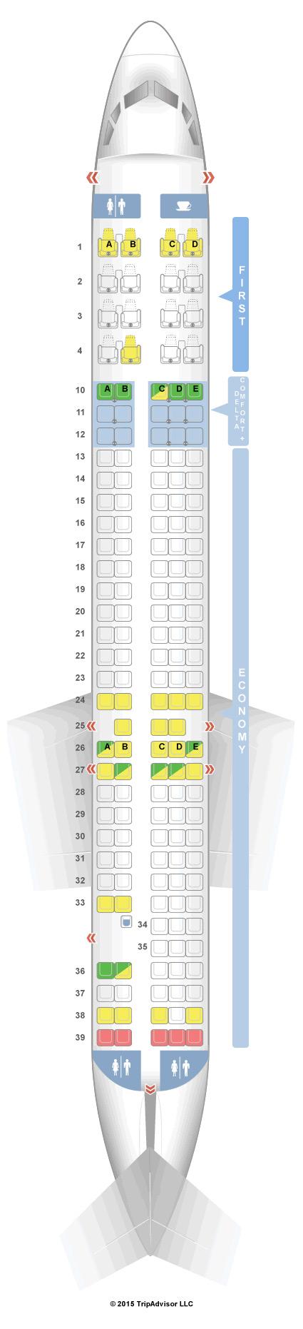 Seatguru Seat Map Delta Mcdonnell Douglas Md 90 Seatguru Delta Delta Airlines