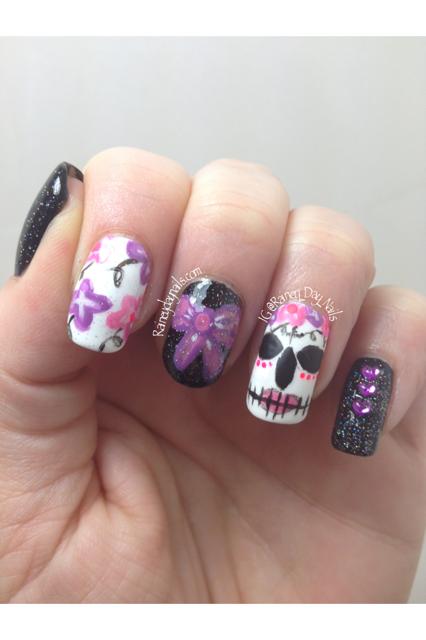 sugar skull nails amazing nail art and nail sugar skull nails prinsesfo Choice Image