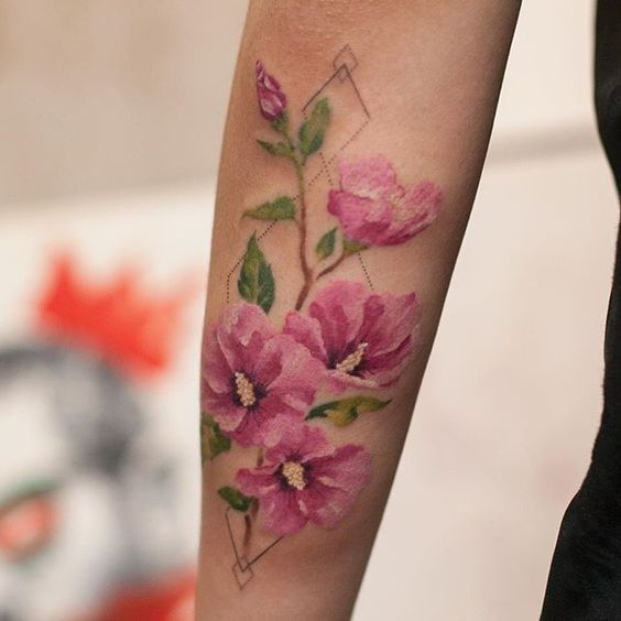 Rose Of Sharon Tattoo Tatuajes Tatuajes Arte Flores