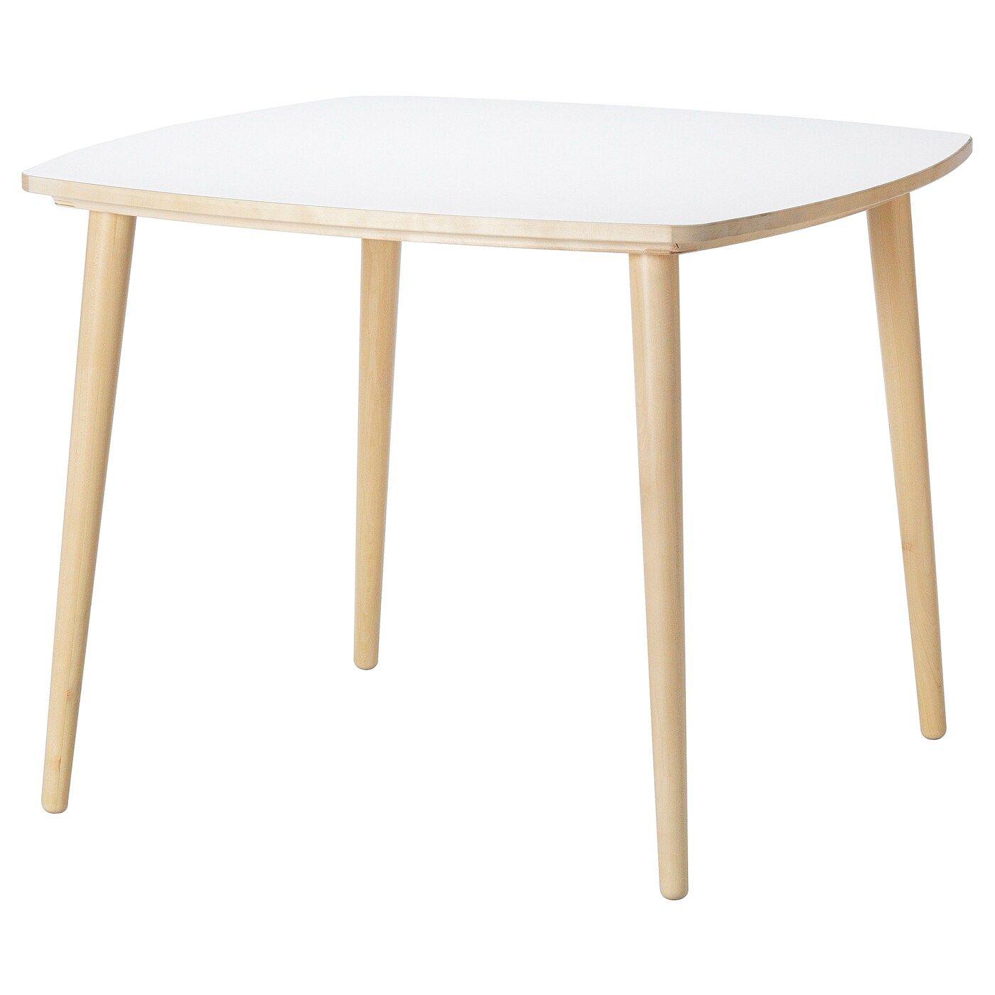Omtanksam Table White Birch Ikea In 2020 Tisch Weiss Ikea Tisch Tisch [ 1400 x 1400 Pixel ]