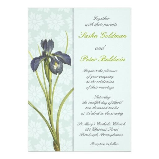 This DealsBlue Iris Floral Wedding Invitationwe are given they also recommend where is the best to buy