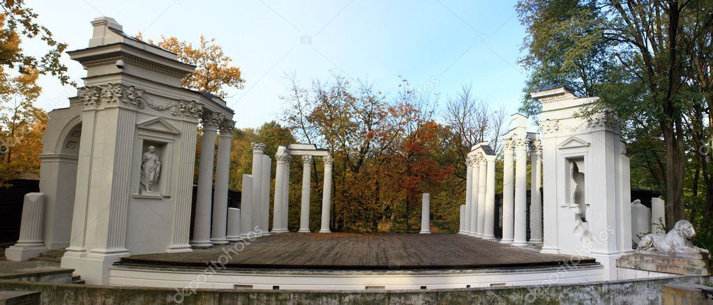 Theater on the water in Warsaw panorama - Stock Photo , #ad, #Warsaw, #water, #Theater, #Photo #AD