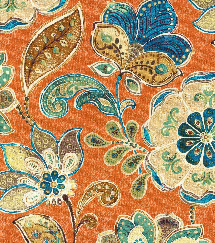 Iman Home Upholstery Fabric Javanese Garden Henna